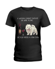 Wine and Chow Chow Ladies T-Shirt thumbnail