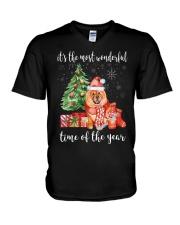 The Most Wonderful Xmas - Chow Chow V-Neck T-Shirt thumbnail