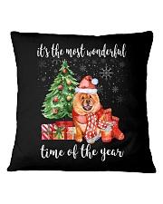 The Most Wonderful Xmas - Chow Chow Square Pillowcase thumbnail