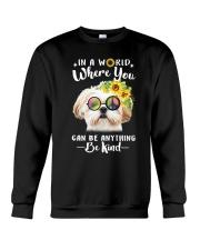 Shih Tzu Be Kind Crewneck Sweatshirt thumbnail