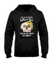Shih Tzu Be Kind Hooded Sweatshirt thumbnail