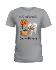 The Most Wonderful Time - Samoyed Ladies T-Shirt thumbnail