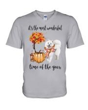 The Most Wonderful Time - Samoyed V-Neck T-Shirt thumbnail