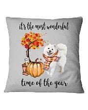 The Most Wonderful Time - Samoyed Square Pillowcase thumbnail