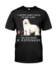 Wine and Komondor Classic T-Shirt front