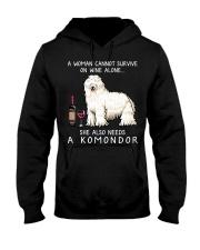 Wine and Komondor Hooded Sweatshirt thumbnail