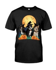 Howloween Border Collie  Classic T-Shirt front