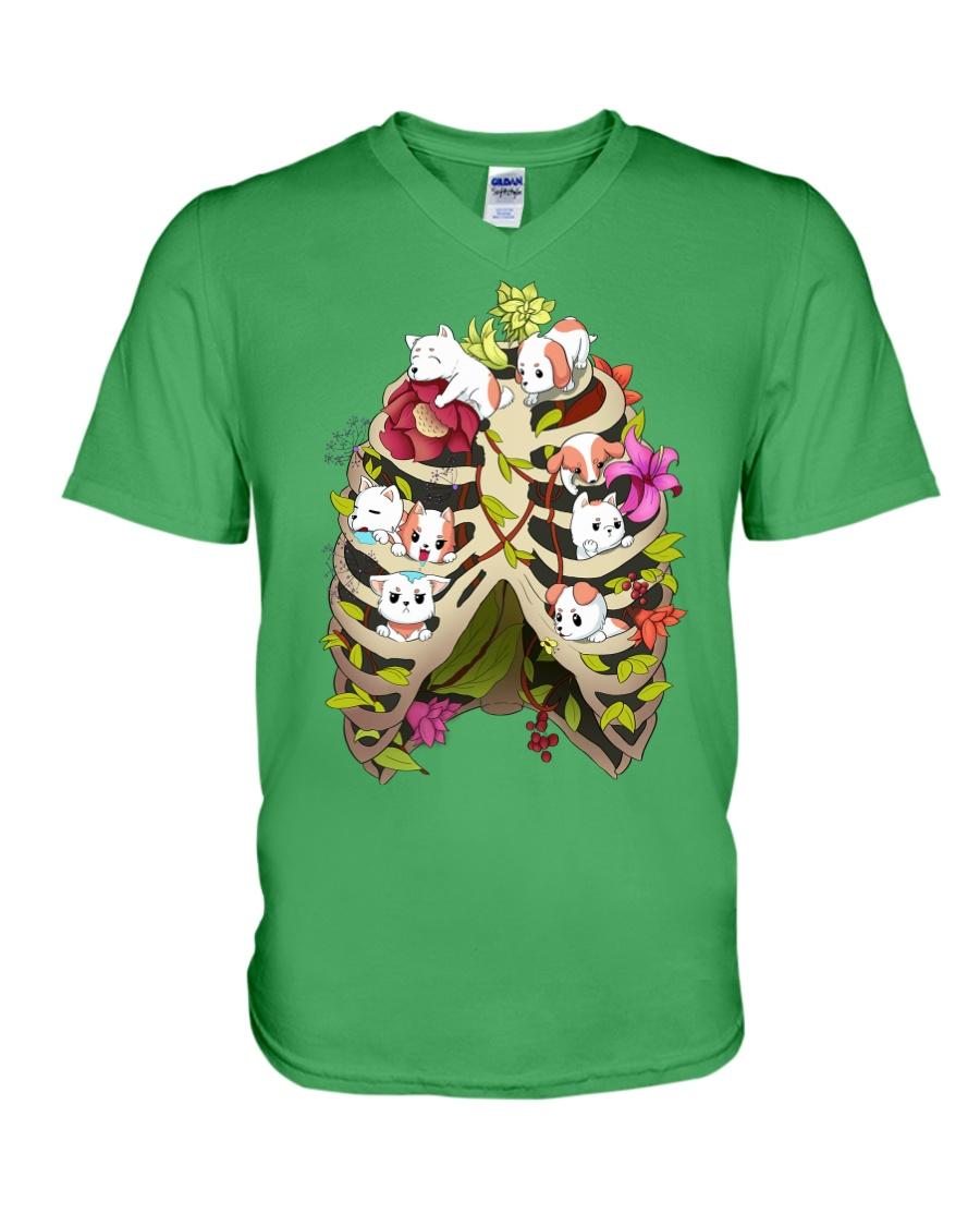 Skeleton Dogs V-Neck T-Shirt
