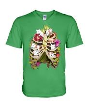 Skeleton Dogs V-Neck T-Shirt front