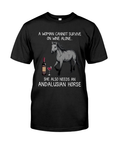Wine and Andalusian Horse