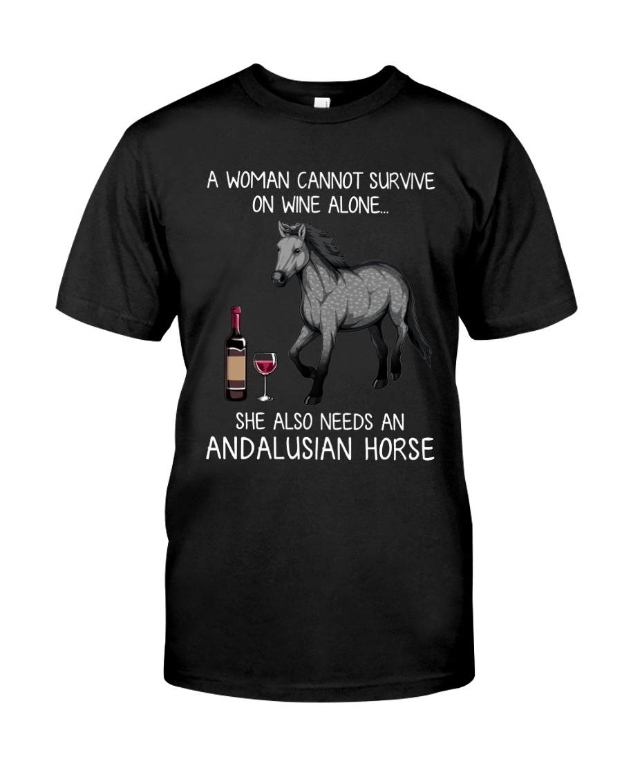 Wine and Andalusian Horse Classic T-Shirt