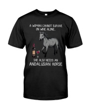 Wine and Andalusian Horse Classic T-Shirt front
