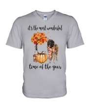 The Most Wonderful Time - Leonberger V-Neck T-Shirt thumbnail