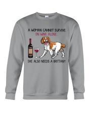 Wine and Brittany 2 Crewneck Sweatshirt thumbnail