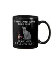 Wine and Russian Blue Mug thumbnail