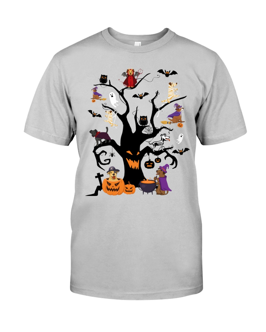 Halloween Dogs Tree Classic T-Shirt