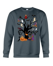 Halloween Dogs Tree Crewneck Sweatshirt thumbnail