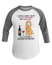Cannot Survive Alone - Golden Retriever Baseball Tee tile
