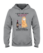 Cannot Survive Alone - Golden Retriever Hooded Sweatshirt tile