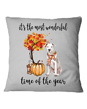 The Most Wonderful Time - Dogo Argentino Square Pillowcase thumbnail