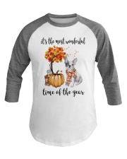 The Most Wonderful Time - French Bulldog Baseball Tee tile