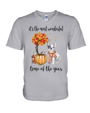 The Most Wonderful Time - French Bulldog V-Neck T-Shirt tile
