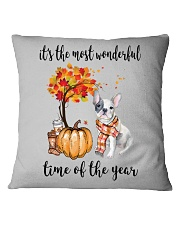 The Most Wonderful Time - French Bulldog Square Pillowcase tile