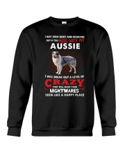 If You Mess With My Aussie Crewneck Sweatshirt thumbnail