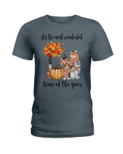 The Most Wonderful Time - Cats Ladies T-Shirt thumbnail