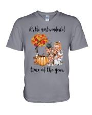 The Most Wonderful Time - Cats V-Neck T-Shirt thumbnail