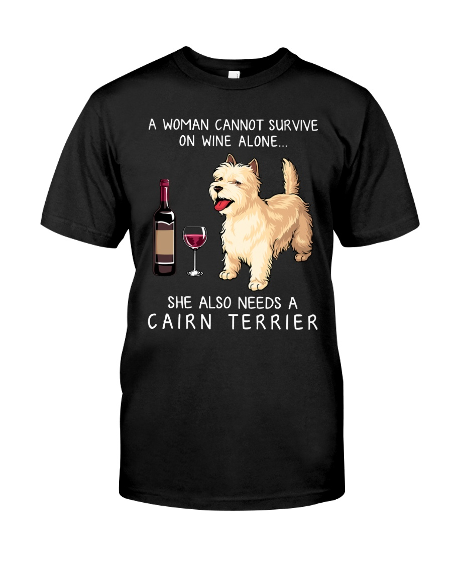 Wine and Cairn Terrier Classic T-Shirt