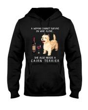 Wine and Cairn Terrier Hooded Sweatshirt thumbnail