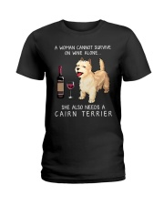 Wine and Cairn Terrier Ladies T-Shirt thumbnail