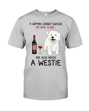Wine and Westie 4 Classic T-Shirt front