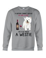 Wine and Westie 4 Crewneck Sweatshirt thumbnail