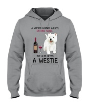 Wine and Westie 4 Hooded Sweatshirt thumbnail