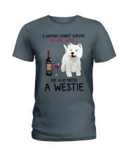 Wine and Westie 4 Ladies T-Shirt thumbnail