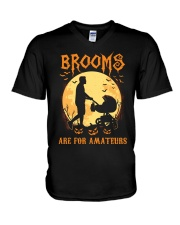 Stroller Brooms Are For Amateurs V-Neck T-Shirt thumbnail