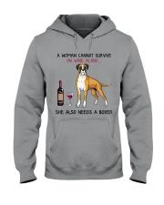 Wine and Boxer 4 Hooded Sweatshirt thumbnail