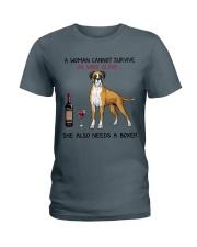 Wine and Boxer 4 Ladies T-Shirt thumbnail