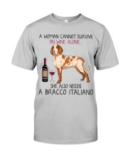 Wine and Bracco Italiano 2 Classic T-Shirt front