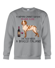 Wine and Bracco Italiano 2 Crewneck Sweatshirt thumbnail