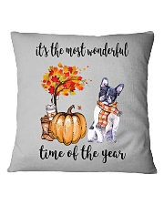 The Most Wonderful Time - Boston Terrier Square Pillowcase tile