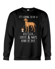 Vizsla Coffee and Naps Crewneck Sweatshirt thumbnail