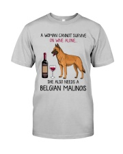 Wine and Belgian Malinois 2 Classic T-Shirt front