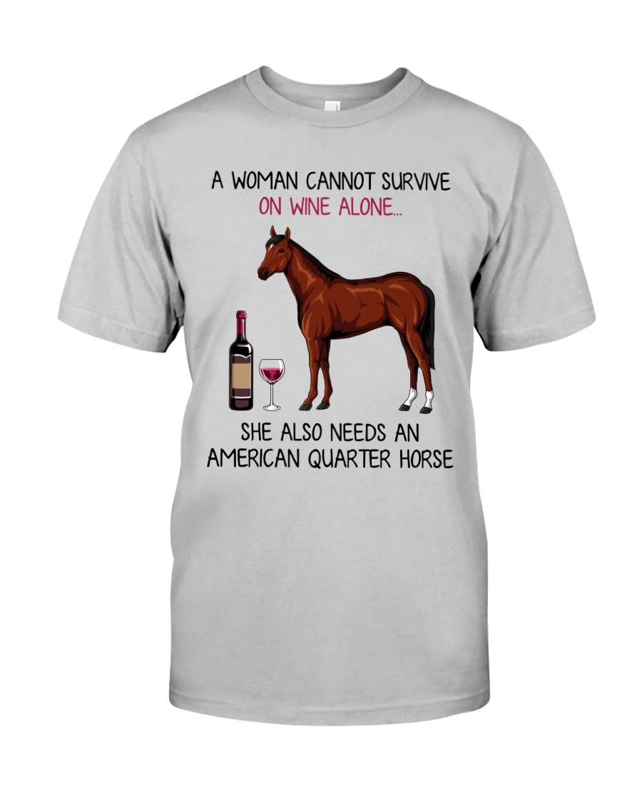 Wine and American Quarter Horse 2 Classic T-Shirt