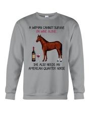 Wine and American Quarter Horse 2 Crewneck Sweatshirt thumbnail