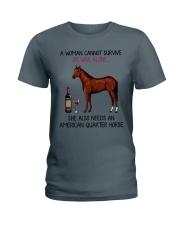 Wine and American Quarter Horse 2 Ladies T-Shirt thumbnail