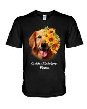 Golden Retriever Mama V-Neck T-Shirt thumbnail