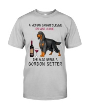 Wine and Gordon Setter 2 Classic T-Shirt tile